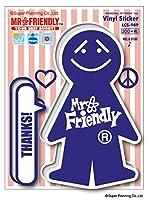 Mr.Friendly ステッカー 青 ブルー ミスターフレンドリー ステッカー LCS989 キャラクター グッズ