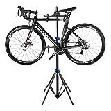 YJTGZ Rack de Mantenimiento para Taller de Bicicletas 2 Ganchos Colgantes, Soporte de exhibición multifunción para Bicicletas de Carretera o montaña, Altura Ajustable de 1.7-3.5 m