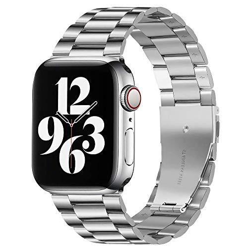 CHENPENG Bandas de Metal compatibles con Apple Watch, Correa de Pulsera de Acero Inoxidable con Correa de Repuesto para Hombres y Mujeres,G,42MM