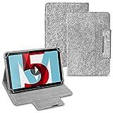 Tablet Tasche für Huawei MediaPad T1 T2 T3 T5 10.0 Zoll Hülle Cover Filz Hülle Schutzhülle Filztasche, Farben:Hell Grau