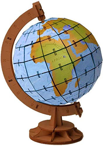 3D Wooden Puzzle for Kids Wooden Globe Model Puzzle, Mechanical Puzzles Jigsaw Puzzle Toys Model Kits Assemble Puzzle Toy Gifts for Kids Boys Girls Educational Toys
