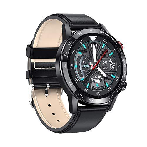 Microwear Herren Uhr Smartwatch,Wasserdicht Sportuhr,Touch-Farbdisplay,Fitness Armbanduhr,für iOS Android (Black)