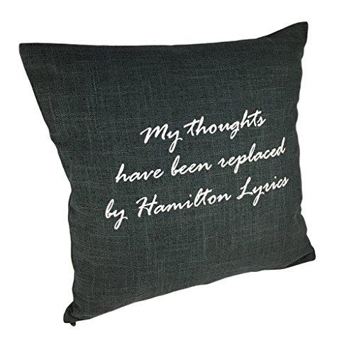 Mis Pensamientos se han reemplazado por Hamilton letras manta funda de almohada