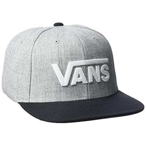 Vans Herren Drop V Ii Snapback Baseball Cap, Grau (Heather Grey Black), One size