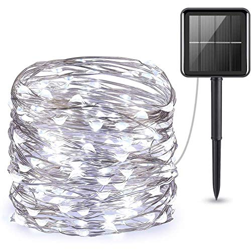 Upgraded Solar Powered String Lights,Mini 100 LED Solar Lights,Indoor Outdoor Waterproof Garden Light For Home Party Christmas E 100 Led