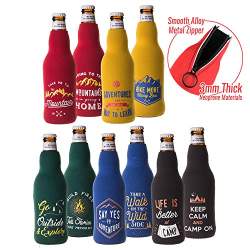 Camp Themed Beer Bottle Insulated Sleeves