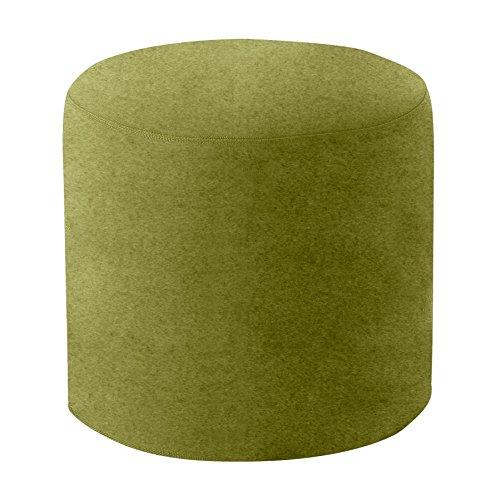 Drum Hocker/Beistelltisch M, hellgrün Stoff Felt 855 H 40cm Ø 45cm