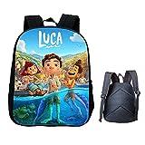 Sac à Dos Luca pour garçons Filles, Sac à Dos Luca Movie Sea Monster Land Monster adapté aux Voyages Scolaires et aux Loisirs (A)