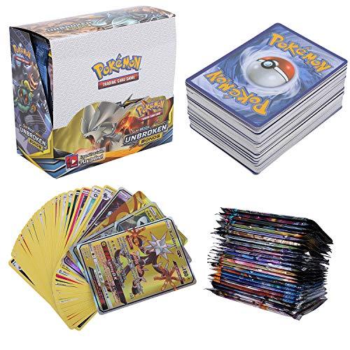 324 Pezzi Carte, Carta Collezionabile, 36 Pezzi GX Gioco di Carte, Sun & Moon Series, UnbrokenBonds Series