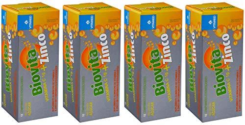 Kit 4 Biovita C Zinco Efervescente: 1000mg De Vitamina C + Zinco