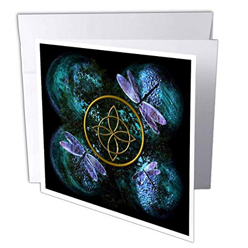3dRose Celtic Knot Celtic Design - Greeting Cards, 6 x 6 inches, set of 6 (gc_31621_1)
