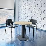 WeberBÜRO Optima runder Besprechungstisch Ø 80 cm Ahorn Anthrazites Gestell Tisch Esstisch