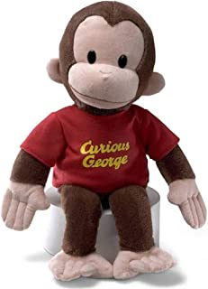 Gund Classic Curious George in Red shirt with yellow wordings, 8
