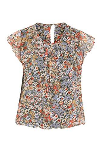 PAPRIKA Damen große Größen Bluse mit Foliendruck Rundhals Kurze Ärmel