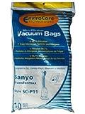 20 Sanyo Allergy Vacuum Bags, Transformax 3-1 Canister Vacuum Cleaners, SA-1411, SAR-1411, SA1411, SA 1411, SAR 1411, SAR1411 or Sears part # 20 30098, 20-30098, 2030098, SC-180 series. SC17, SC150, SC180, SCP11, SC-F2, SCF2 SC15, SC17, SC150, SC180, SC-18L, SC-18
