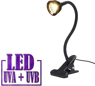 Reptile Turtle Light LED UVA + UVB Sun Lamp with Flexible Clamp Lamp Holder for Reptiles Amphibian Lizard Turtle Snake Tortoises Bearded Dragons Chameleon Lizard(Lamp Bulb Include)