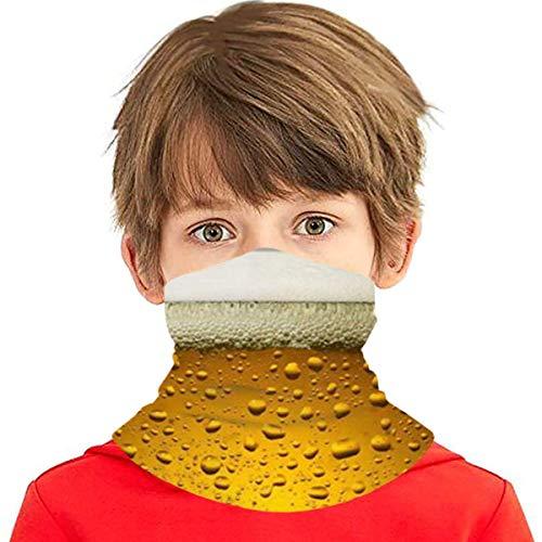 Verctor Bier Wallpaper Gesichtsschutz Schal Banane Magic Stirnbänder für Jungen Mädchen Teenager, Sturmhaube Hals Gamasche