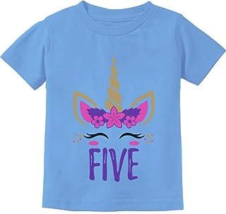 Gift for 5 Year Old Girl Unicorn 5th Birthday Toddler Kids T-Shirt