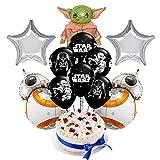 17 Piezas Globo de Star Wars HANEL-Baby Yoda Decoraciones de Cumpleaños Aluminio Globo Suministros de Fiesta para Navidad decoración de cumpleaños Artículos para Fiestas