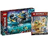 Collectix Lego Ninjago 71752 - Juego de altavoces subacuáticos ninja y la misión del ninja dorada (cubierta blanda)