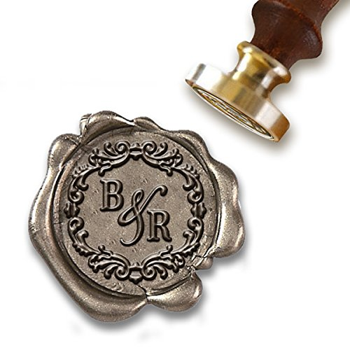 Wedding Custom Wax Seal Stamp Kit With Sealing 1 Die 2 Letter