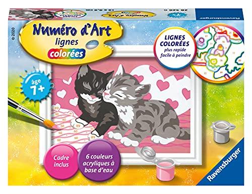 Ravensburger – Numéro d'art mini format – Adorables chatons – loisir créatif – kit de peinture acrylique – activite détente – enfant dès 7 ans – 28526