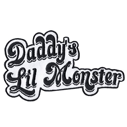 SNOW - Daddy's Lil Monster Iron On Patch Decoration Sew On Patches for Jackets, Backpacks, Jeans, Clothes