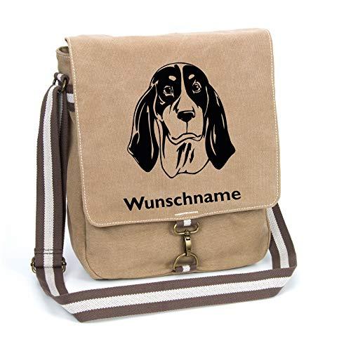 Ariégeois Schultertasche Umhängetasche Tasche mit Hundemotiv und Namen personalisiert