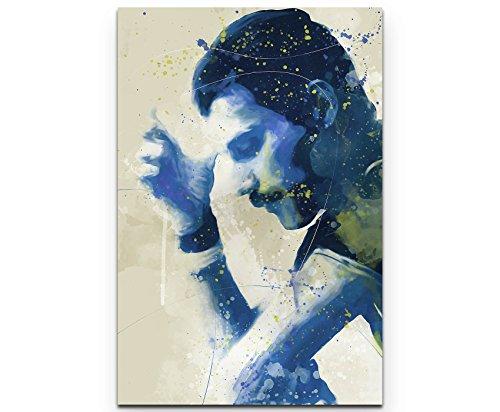Paul Sinus Art Freddie Mercury VII 90x60cm auf Leinwand gespannt fertig zum aufhängen