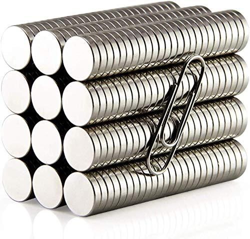 Gebildet 200pcs 5mm×1mm Redondos Imanes,Magnet Redondo Magnético Estupendo,Imanes Nevera,Imanes de Neodimio Redondos para Cocina, Artesanías, Proyectos Científicos