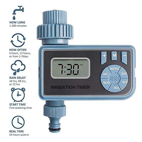 XINXI-YW Conveniente Temporizador de riego Inteligente Digital electrónico automático Controlador de riego Sistema de riego del jardín Temporizador Inicio Decorativo