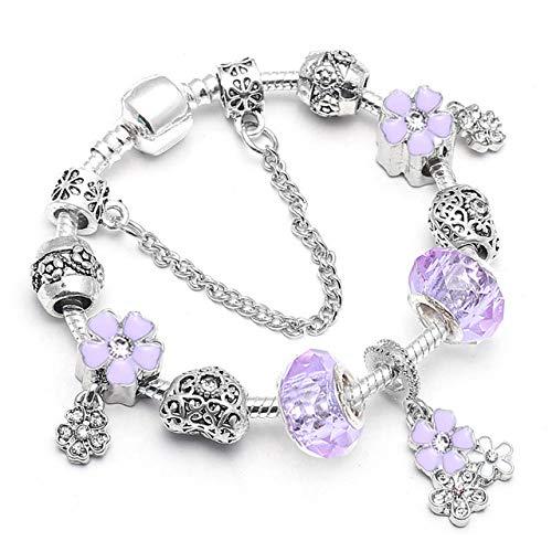 MZFRXZ Damesarmband van hoogwaardige mooie lieveheersbeestjes-hangende bedelarmband voor vrouwen, passend origineel merk-armband-sieraden-cadeau