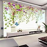 Papel de pared fotográfico personalizado 3D Flor de vid Árbol HD Pintura de pared grande Papel tapiz Sala de estar moderna Dormitorio Papel tapiz no tejido