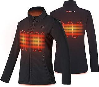 Women's Heated Jacket Slim Fit Waterproof Heated Coat for...