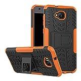 TiHen Handyhülle für Asus Zenfone 4 Selfie ZD553KL Hülle, 360 Grad Ganzkörper Schutzhülle + Panzerglas Schutzfolie 2 Stück Stoßfest zhülle Handys Tasche Bumper Hülle Cover Skin mit Ständer -Orange