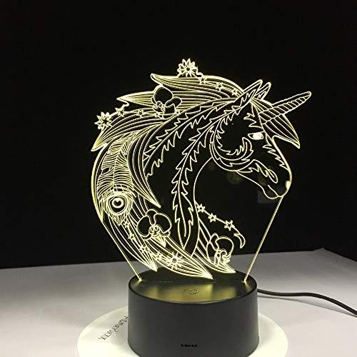 Cavallo luce cambia colore decorazione camera da letto trasporto di goccia miglior costo per bambini a casa luce notturna regalo di festa