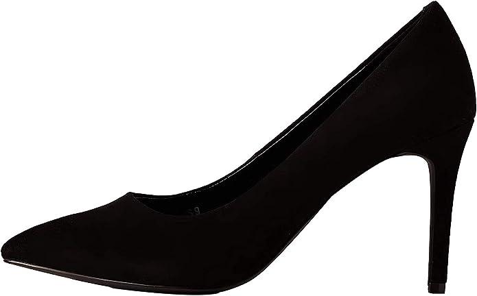 TALLA 37 EU. Marca Amazon - find. Wide Fit Point Court Shoe - Zapatos de tacón con punta cerrada Mujer