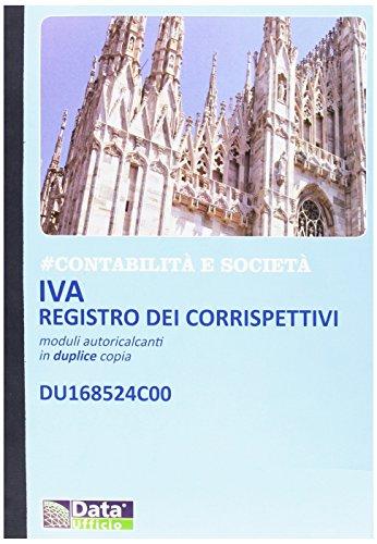 Registro corrispettivi DU168524C00 Data Ufficio ricalcante 24 pagine con copia 23x30 cm