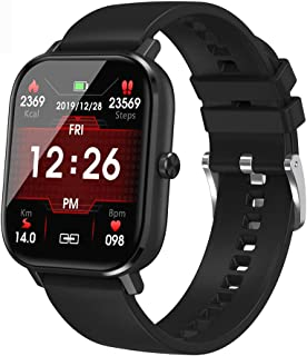 2021強化版 スマートウォッチ bluetooth通話 キーパツド 連絡先 1.54インチの大画面 カレンダー 着信通知 音楽再生 smart watch コンピュータ IP67防水 遠隔撮影 iPhone/Android対応 日本語取扱説明書