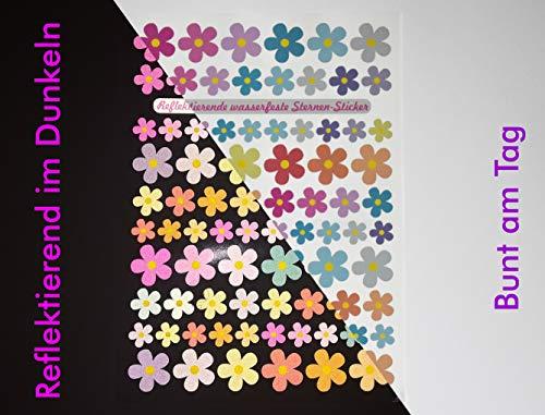 Jabalou Reflektierende Fahrradaufkleber Sticker fürs Fahrrad Kinderfahrrad (Blumen Pastell)