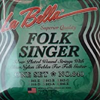 【 並行輸入品 】 LaBella 840 Labella Folksinger Clear Treb
