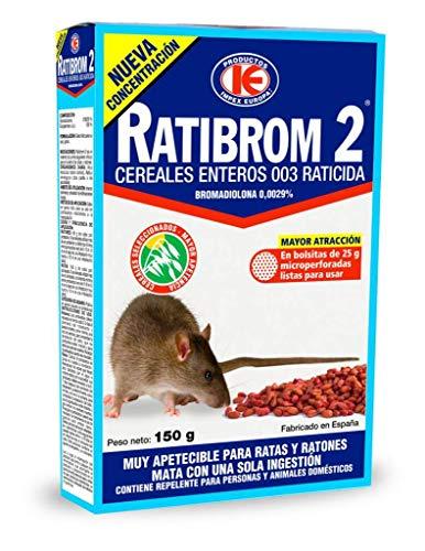 IMPEX EUROPA Ratibrom 2 Cereales raticida 150 g, Rojo