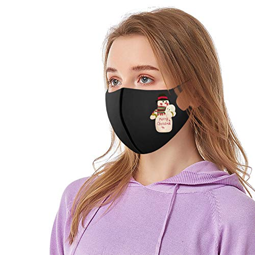 Tyoby Waschbare Gesichts mvsken (Earloop), wiederverwendbarer Modedruck für Erwachsene Staubdichter Seidenbandana-Schutz Mund Schutz(L,1PC)
