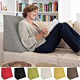 Sabeatex Rückenkissen, Keilkissen für Couch und Sofa, Lesekissen für bequemes Sitzen. 5 Unifarben...
