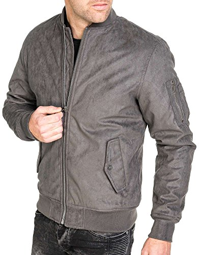 GOV Denim - Bomberjacke grau Mann suedin Trend - Color: Grau, Size: XL