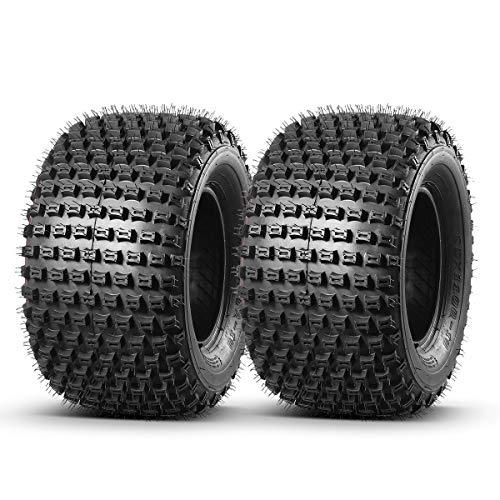Set of 2 MaxAuto ATV Tire 22x11-10 Go Kart Tire UTV Off-Road Tires 22x11x10 Golf Cart Tires 4PR Rating J Tubeless