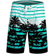 APTRO Men's Quick Dry Swim Trunks with Pockets Long Elastic Waistband Beach Holiday Bathing Suits with Mesh Liner