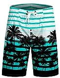 APTRO Men's Swim Shorts Quick Dry Swim Trunks Bathing Suit 1525 Blue M
