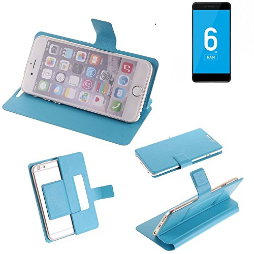 K-S-Trade Flipcover Für Vernee Mars Pro 4G Schutz Hülle Schutzhülle Flip Cover Handy Hülle Smartphone Handyhülle Blau