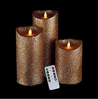Best white glitter flameless candles Reviews